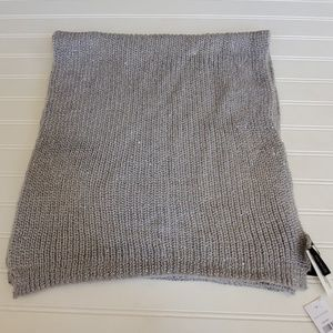 Ann Taylor Gray Cable Knit Sweater Scarf